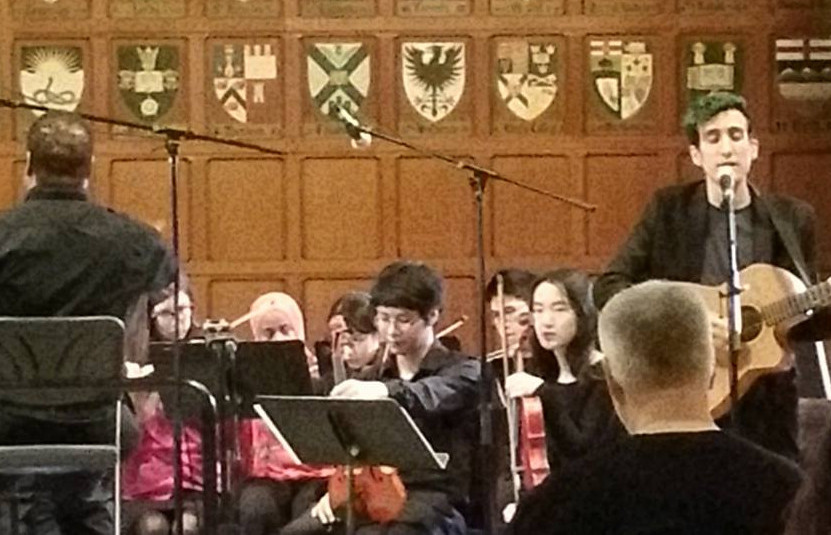 Blaise performing at the Hart House Chamber Strings Pops Concert