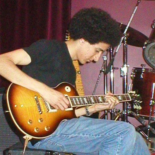 Blaise in June 2005 with Les Paul