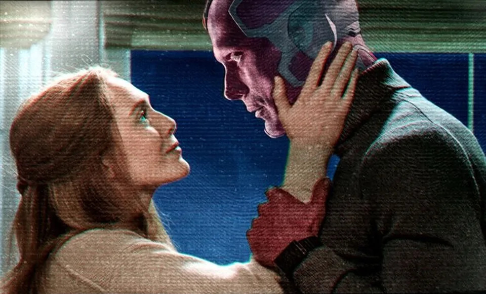 Wanda and Vision with the peace of the interior gaze